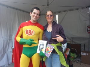 Mare with the Bookman - Baltimore Book Festival, 9/28/13