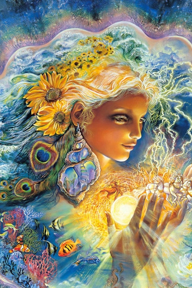 """Earth Mother"" by Josephine Wall"